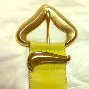 Vintage chartreuse belt